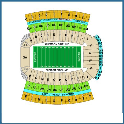 clemson seating chart valley valley clemson seating chart