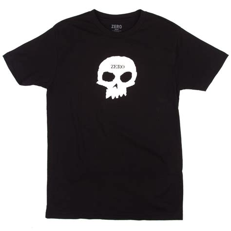 T Shirt Zero X Store 1 zero single skull t shirt black