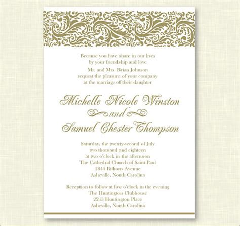 Formal Wedding Invitation Template formal invitation templates 53 free psd vector eps ai
