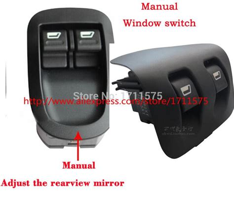 Window Control Switch Manual Adjustment Rearview Mirror