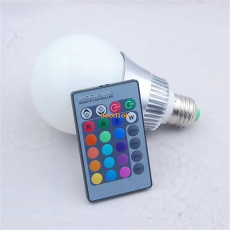 Led Eceran 10w rgb led l light bulb with remote controller