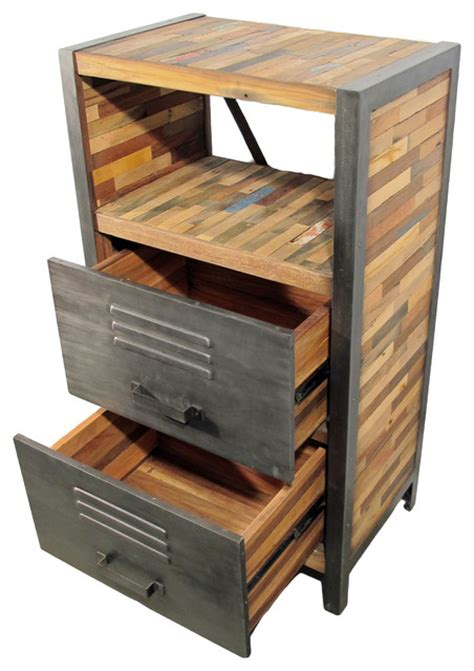 Locker Dressers by Open Shelf And Drawer Dresser Locker Style Industrial Dressers By Impact Imports