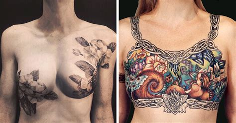 tattoo nipple reduction tattoo artists cover breast cancer survivors scars with