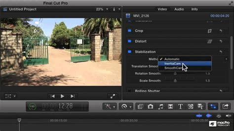 final cut pro stabilization final cut pro x 105 core training compositing and visual