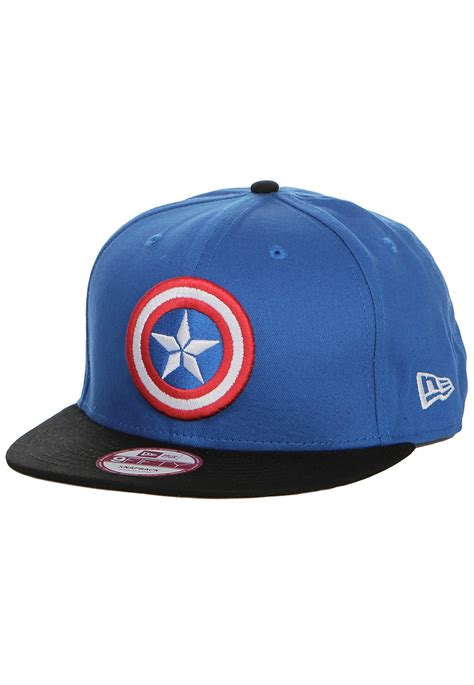 new era logo captain america black blue snapback cap impericon worldwide