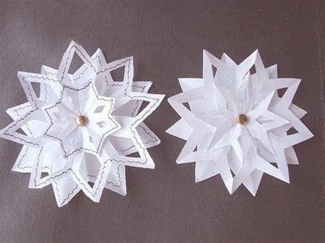 snowflake 4 3 layer snowflake paper folding