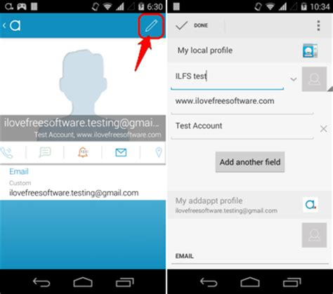 edit contacts android android contact manager to auto update contact info