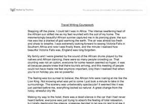 Travel Essay by Travel Writing Coursework Gcse Marked By Teachers