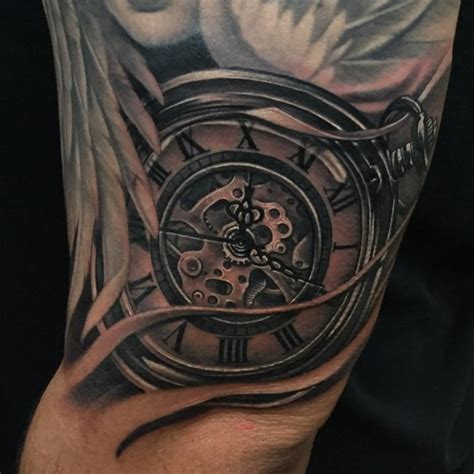 pocket watch tattoos 125 timeless pocket ideas a classic and