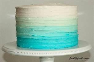 blue ombre cake tutorial javacupcake