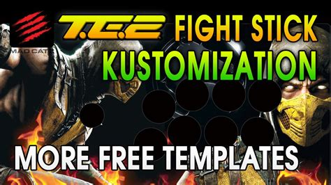 mad catz te2 template more te2 fight stick print ready custom templates mortal