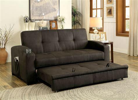 transitional style sofas mavis transitional style brown fabric adjustable sofa