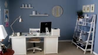 Blue Office furniture sophisticated white and blue desk for your home office