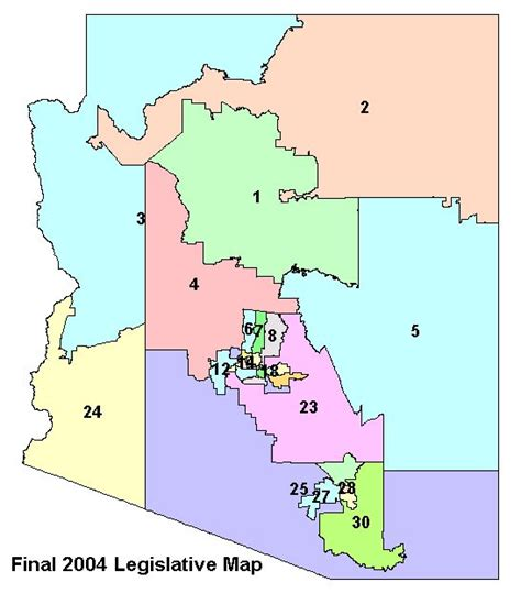 map of arizona us congressional districts precleared ld map independent redistricting commission