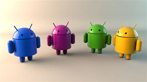 colorful android club 3d wallpaper with androids of various colors - Android Clubs