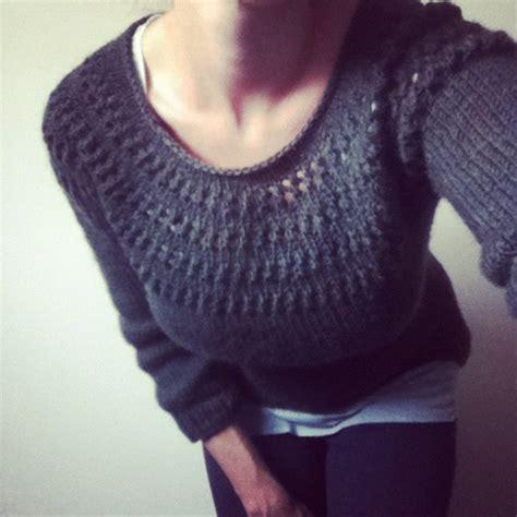 yoke knitting pattern knitting patterns galore eyelet yoke sweater