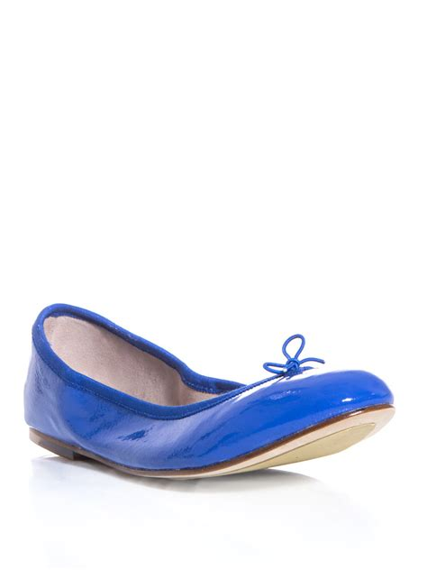 bloch flat shoes bloch patent leather flats in blue lyst