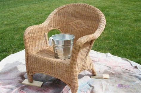 spray paint wicker furniture spray painted wicker chair
