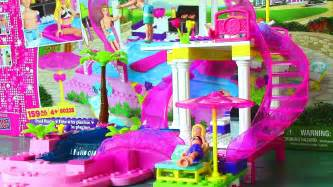 Dollhouse Bed Mega Bloks Barbie Pool Party With Barbie Doll And Ken Doll