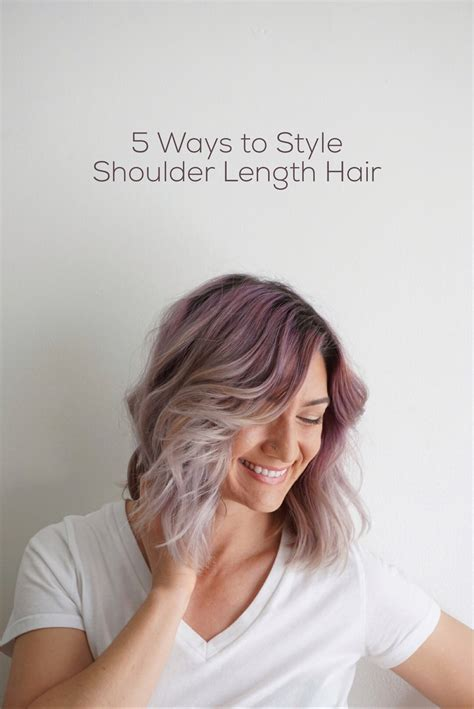 how to style medium hair 5 ways to wear shoulder length hair hairstyles