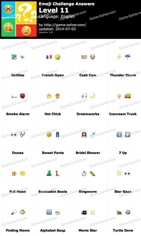 emoji film respuestas emoji challenge level 11 game solver