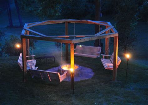 bench swing fire pit how to diy a fire pit for your backyard ideas and tutorials 2017