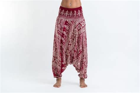 tribal pattern harem pants tribal prints jumpsuit harem pants in red