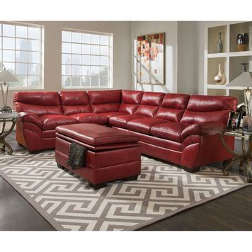 simmons red leather sectional soho bonded leather sectional in red by simmons upholstery