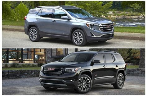 gmc acadia vs terrain 2018 gmc terrain vs 2018 gmc acadia worth the upgrade