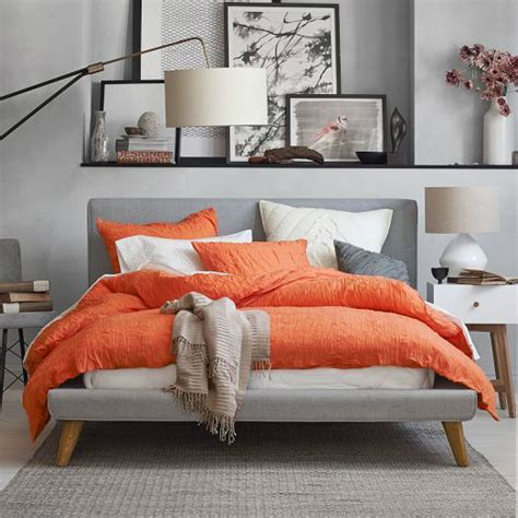 Orange And Grey Bedroom Decor by 22 Beautiful Bedroom Color Schemes Decoholic