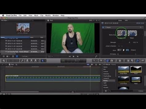 green screen tutorial final cut pro x chroma key green screen in final cut pro x fcpx youtube