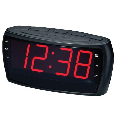 supersonic 97095094m digital am fm alarm clock radio withjumbo digital display aux input black