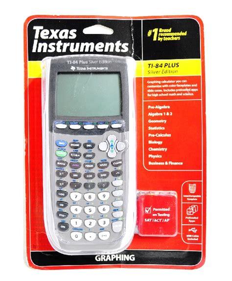 ti 84 plus silver edition texas instruments refurbished texas instruments ti 84 plus silver edition graphing