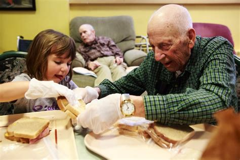 retirement home meets day care at providence mount st