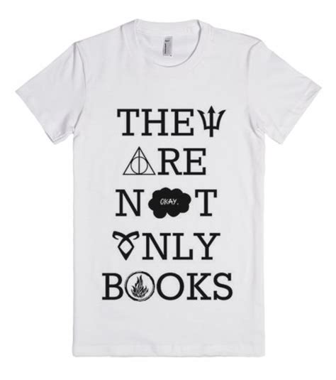 not books they are not only books fitted t shirt skreened