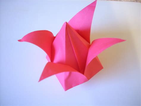 Tulip Flower Origami - origami tulip 183 an origami tulip 183 origami on cut out keep