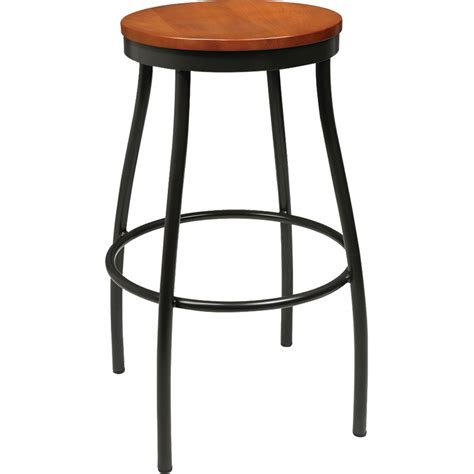 Outdoor Metal Backless Bar Stools by Barstools Metal Rustic Wood Backless Stool