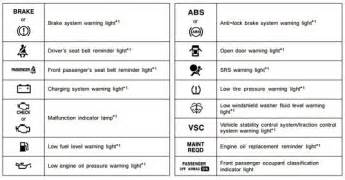 Fuel System Warning Light Toyota Toyota Corolla E140 E150 Dash Light Guide