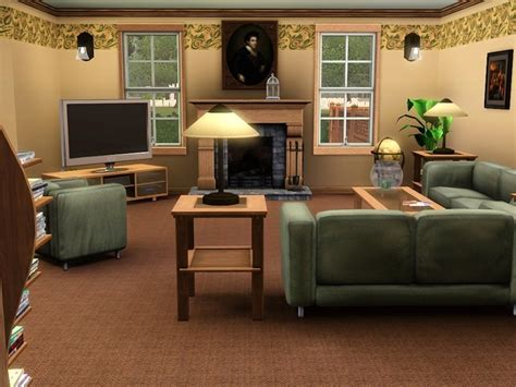 Sims 2 Living Room by Mod The Sims Suburban Living 2br 1 Ba