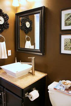 brown bathroom walls 1000 images about guest bathroom on pinterest coral