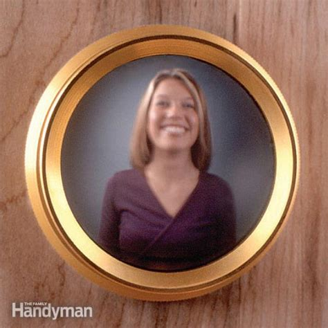 Replace A Peephole With A Door Viewer The Family Handyman Front Door With Peephole