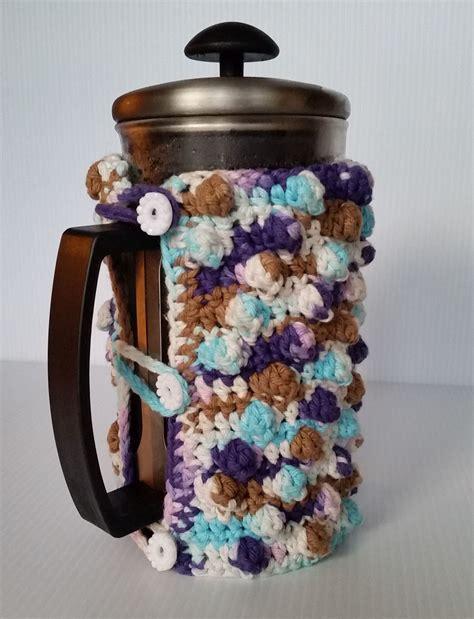pattern for french press cozy french press cozy free crochet pattern artsy daisy crochet