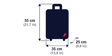 size of cabin baggage baggage