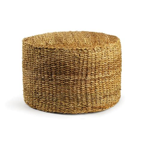 seagrass pouf ottoman making seagrass ottoman recycled best house design