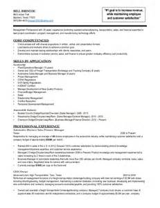 Transportation Operations Manager Sle Resume by Bill Briscoe Operations Transportation Management Resume