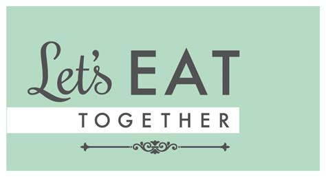 Invite To Eat Together.   123 Invitations