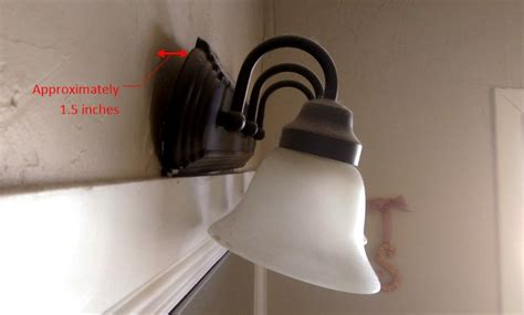 bathroom sink pulling away from wall fix bathroom vanity light fixture homediygeek