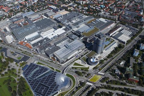 Panoramic view of BMW Munchen factory   BMW POST