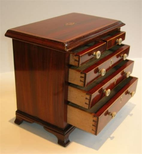 Apprentice Chest Of Drawers by George Iii Mahogany Apprentice Miniature