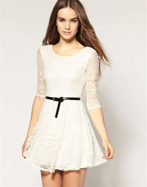 White Lace Dress fashion you trend white lace dress